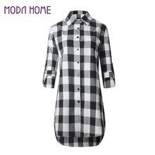 2017 outono inverno das senhoras blusa de algodão feminino casual tops lapela camisa xadrez de manga longa mulheres fino outerwear plus size clothing(China (Mainland))