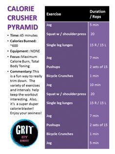 Calorie Crusher Pyramid