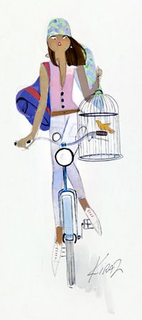 Parisienne de Kiraz à vélo