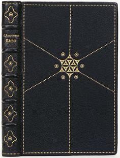 Leather stamped with gold.  Binder: Oskar Blenkner, 1913-17. / book cover / pattern / dots and lines /