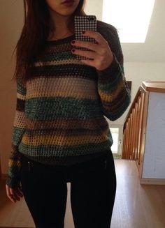 Kaufe meinen Artikel bei #Kleiderkreisel http://www.kleiderkreisel.de/damenmode/strickpullover/117161714-bunt-gestreifter-grobstrick-pullover-winter-blogger-trend-modell-bequem-chillig-lounge-wear-musthave
