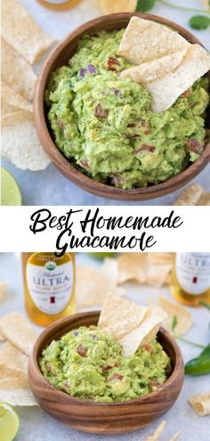 Learn how to make the best homemade guacamole with this recipe! This genuine authentic guacamole recipe turns out perfectly every time and its so easy to make. It's so simple and the perfect healthy party food! Video of recipe can be seen at post. Authentic Guacamole Recipe, Guacamole Recipe Easy, Homemade Guacamole, Avocado Recipes, Avocado Guacamole, How To Make Guacamole, Sauce Barbecue, Snacks Sains, Snacks Für Party
