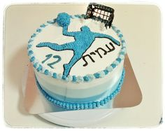 Handball cake Cupcake Cakes, Cupcakes, Sweet Kisses, Cake Decorating, Deserts, Birthday Cake, Cooking Recipes, Treats, Projects