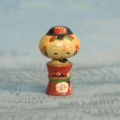 Kokeshi Japanese Wooden Doll - Tiny Naruko Style Ningyo by softypapa, via Flickr