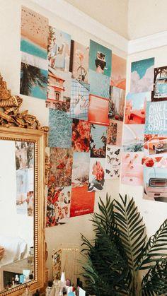 Cute Bedroom Decor, Room Design Bedroom, Teen Room Decor, Room Ideas Bedroom, Cool Room Decor, Teen Rooms, Bedroom Inspo, Beach Room Decor, Room Wall Decor