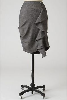 Self Drafted Ruffle Skirt - sewing tutorial #sewing #tutorial