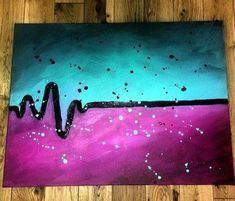 Easy Canvas Painting Ideas - Check out our latest collection of ideas featuring Super Easy DIY Canvas Painting Ideas For DIYSIDEAS. Simple Canvas Paintings, Easy Canvas Art, Easy Canvas Painting, Cute Paintings, Acrylic Canvas, Diy Canvas, Diy Painting, Canvas Ideas, Image Painting