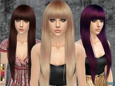 The Sims Resource: Izzy Hairstyle by Cazy - Sims 4 Hairs - http://sims4hairs.com/the-sims-resource-izzy-hairstyle-by-cazy/