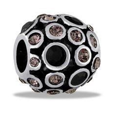 Smoky Crystals Decorative Orb Bead by DaVinci