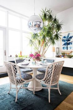 Look We Love Traditional Table Modern Chairs via Bloglovincom