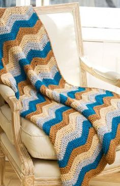 Ripple Lapghan Crochet Pattern...reminds me of my grandmama. Love these colors.