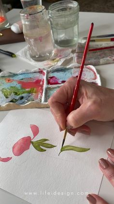 I created a new eBook with traceable motifs of flowers, plants and wreaths for you to paint! Helping you practice more and not spending time thinking about what to paint! Learn Watercolor Painting, Watercolor Beginner, Watercolor Art Lessons, Watercolor Techniques, Painting Techniques, Watercolor Flowers, Watercolor Paper, Painting & Drawing, Airplane Essentials