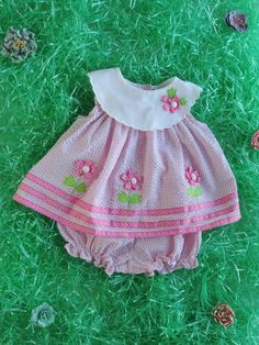 Pink Flower Girl Vintage Baby Gingham Print 2 by crazyhotclothes