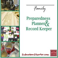 Being organized is something suburban 'steaders need to take seriously. The Preparedness Planner & Record Keeper reviewed here helps keep you organized!