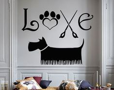Wall Decals Dog Grooming Salon Decal Vinyl Sticker by CozyDecal
