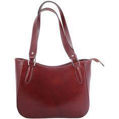 Hnedá kožená kabelka Chicca Borse Sandrine 78 e