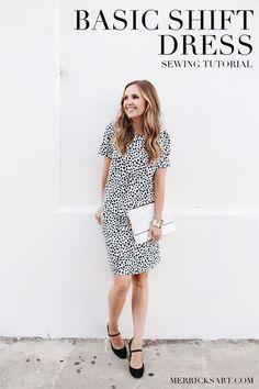 EASY SHIFT DRESS SEWING TUTORIAL | Merricks Art | Bloglovin'