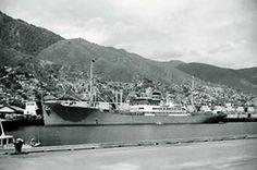 Imagen parcial del puerto de La Guaira, junio de 1965.   Fotografía de Hanns Tschira.