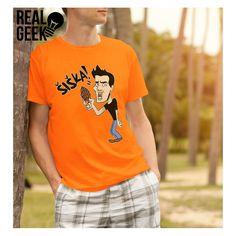 Gogoman tričko Šiška oranžové Geek Stuff, Mens Tops, T Shirt, Fashion, Geek Things, Supreme T Shirt, Moda, Tee Shirt, Fashion Styles