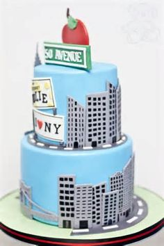 Image Detail For Sams Cakes New York Themed Cake Birthday Nyc