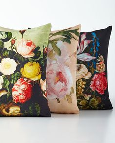 Shop luxury pillows and throw pillows at Horchow. Browse our luxurious selection of decorative and throw pillows in a variety of sizes and styles. Affordable Home Decor, Luxury Home Decor, Floral Pillows, Decorative Pillows, Pantone Greenery, Accent Pillows, Throw Pillows, Bee Creative, Machine Wash Pillows