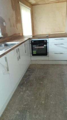 another image of clients kitchen taken as we completed our part of the project. You may notice a gap under the base doors and the plinth. This has been left to allow the clients flooring to be fitted by others at a later date. Free Kitchen Design, Kitchen Cabinets, Kitchen Appliances, Kitchen Installation, Bathroom Ideas, Gap, Doors, Flooring, Image