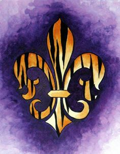 i know it is for LSU but I shall use it for the Boy Scouts ..... too cool to pass up.... now i need some little canvases to paint