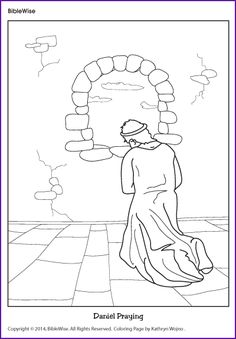 coloring daniel praying kids korner biblewise bible coloring pageschristian