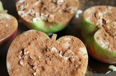 OATMEAL BAKED APPLES      1 apple     2 tbsp maple syrup     2 tbsp oats (steel cut oats, rolled oats, whatever you like)     Generous sprinkling of cinnamon and nuts bake 350 20 minutes