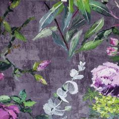 £65 Designers Guild Caprifoglio Fabrics Tulipani Fabric - Amethyst - FDG2356/02