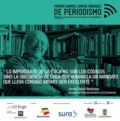 Hoy celebramos la ética y la vocación de servicio público. ¡Felicidades maestro Javier Darío! #PremioGGM: http://www.fnpi.org/premioggm/javier-dario-restrepo/