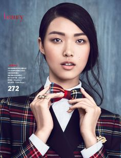 Vogue Taiwan Check Point 529Finala Tian Yi is Pretty in Plaid for Vogue Taiwan Feature by Yossi Michaeli