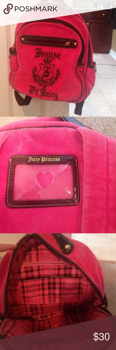 Juicy Couture back pack Gently used Juicy Couture Bags Backpacks