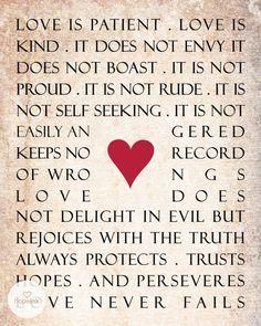 Wedding Scripture 1 Corinthians 13