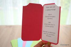 """Einladung für Kindergeburtstag """"Eis am Stiel"""" – Verscrappt.de"""