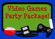 Video Games Birthday Party Invitation by CutiesTieDyeBoutique, $42.00