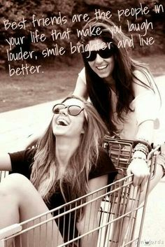 Friends <3 @Hannah Mestel Mestel Sarenpa I want to do s shopping cart picture for our photoshoot! They're so cute!