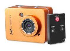 Hi-Speed HD 1080P Action Camera Hi-Res Digital Camera/Camcorder with Full HD Video, 12.0 Mega Pixel Camera & 2.4'' Touch Screen (Orange Color)