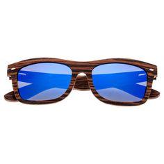 056f3fba368 Earth Wood Maya Polarized Sunglasses - Black Blue