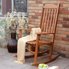 Have to have it. Coral Coast Indoor/Outdoor Mission Slat Rocking Chair - Natural - $139.98 @hayneedle