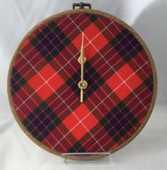 "These beautifully handcrafted wall clocks are handmade to order using high quality 13oz tartan plaid as used by many Scottish kilt makers. Ideal for your home, gifts to family and friends either at home or overseas, as a wedding gift or as a simple ""thank you"" - a Truly Truly Tartan Clock is the perfect reminder of Scotland's Rich Heritage. Measuring 8 inches in diameter, each clock features a flexible wood effect outer frame made from the highest quality materials m..."