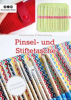 Neues Ebook fertig: Pinsel- & Stiftetasche in drei Größen