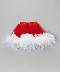 Another great find on #zulily! Red & White Feather Tutu - Toddler & Girls #zulilyfinds