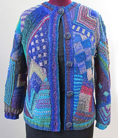 Crazy Quilt knitting by Myra Wood
