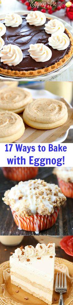 ... Delicious Recipes Using Eggnog! I don't even like to drink eggnog