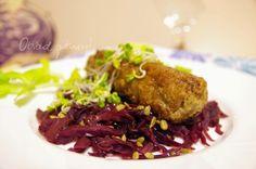 Obiad gotowy!: Kotlety z wołowiny na czewonej kapuscie