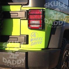4 Wheel Drive Willys Jeep Sticker for Wrangler Cherokee JK TJ YJ CJ XJ Factory 07-15 (Metallic Silver) Skull Daddy Graphics http://www.amazon.com/dp/B010R81206/ref=cm_sw_r_pi_dp_KZvbwb14VGY47