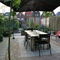 idee: bestrating - vlak om terrasset nieuwbouwtuin, amersfoort vathorst « Studio TOOP Tuinarchitectuur Studio TOOP Tuinarchitectuur