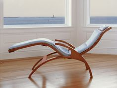 ABOUT THE CHAISE Designed in collaboration between Tom and David Moser and introduced in our Chaise takes its inspiration from contemporary furniture designs created by European architects in the and Contemporary Home Furniture, Rustic Contemporary, Mid Century Modern Furniture, Cool Furniture, Chaise Chair, Living Room Decor Cozy, Lounge Seating, Chair Design, Decor Styles
