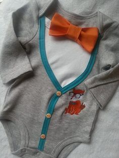 Baby Boy Fox Cardigan with BowTie by SailEastCouture on Etsy, $27.99